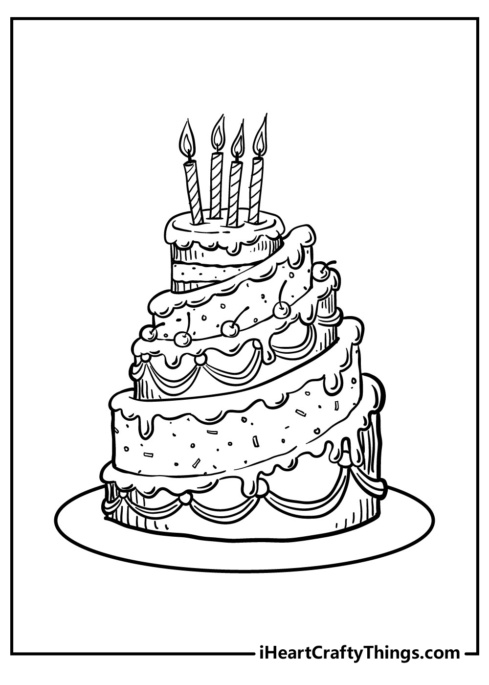 chocolate cake coloring pages free download