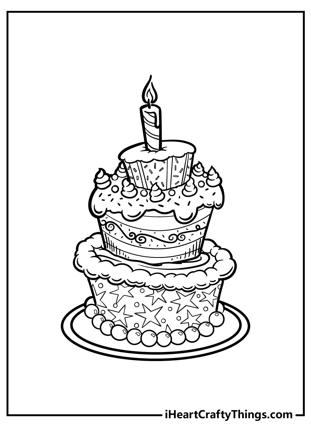 big cake coloring pages free printables