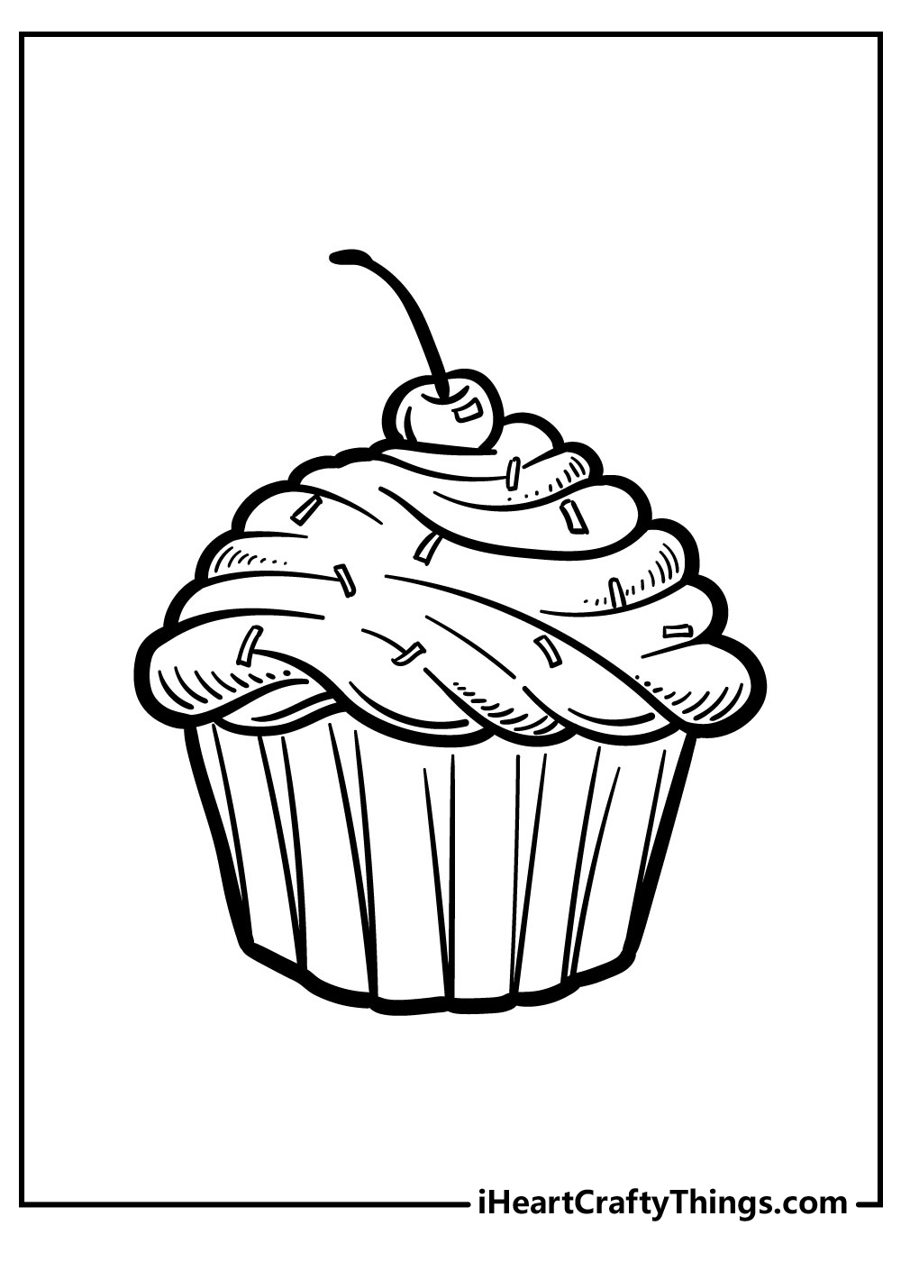 tiny cake coloring pages free printables