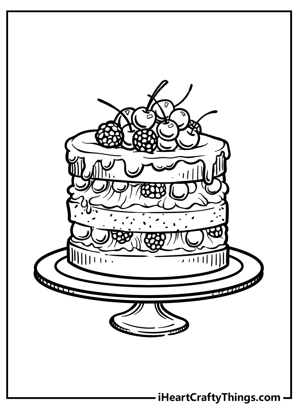 round cake coloring pages free download