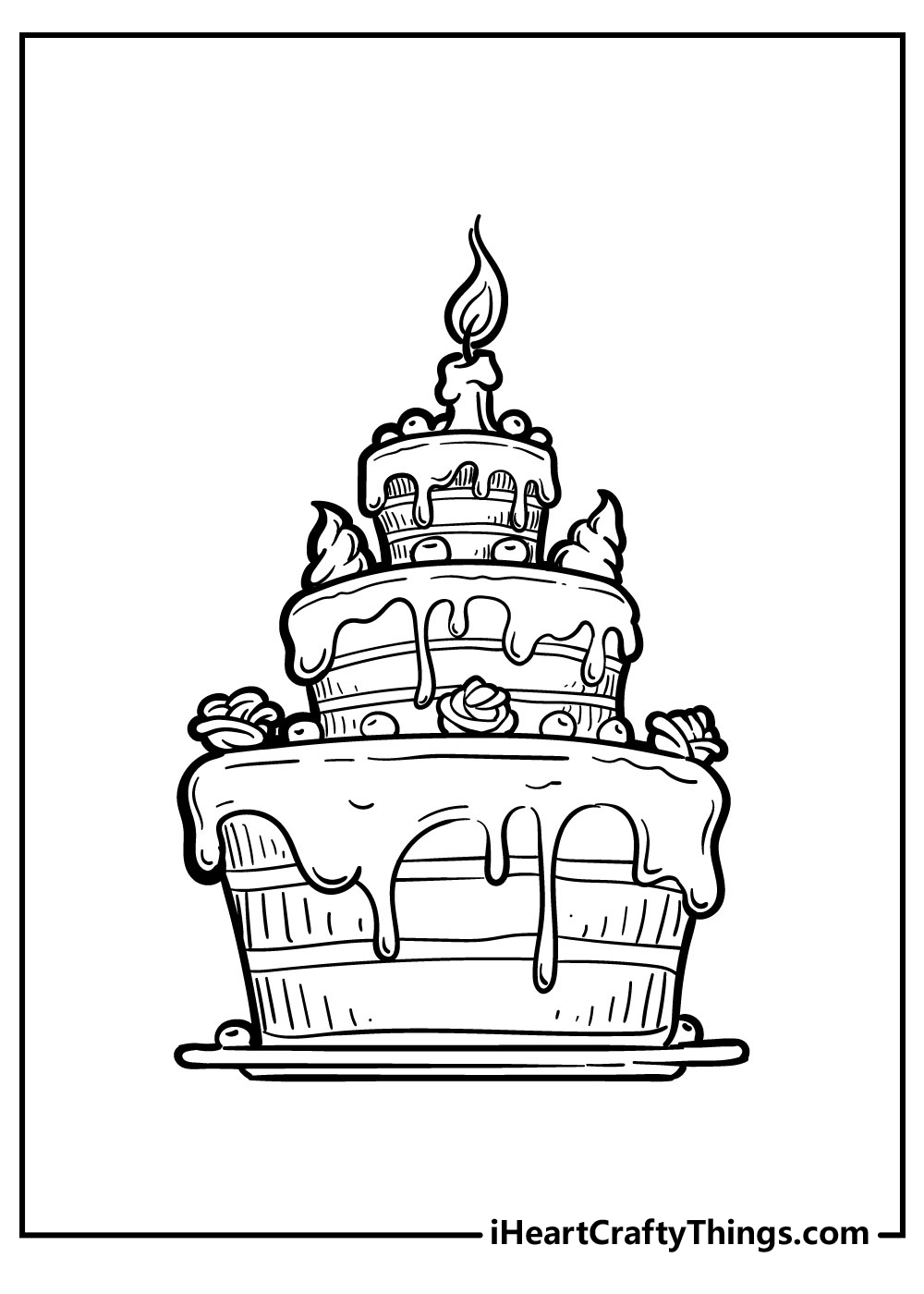 birthday cake coloring pagesfree download