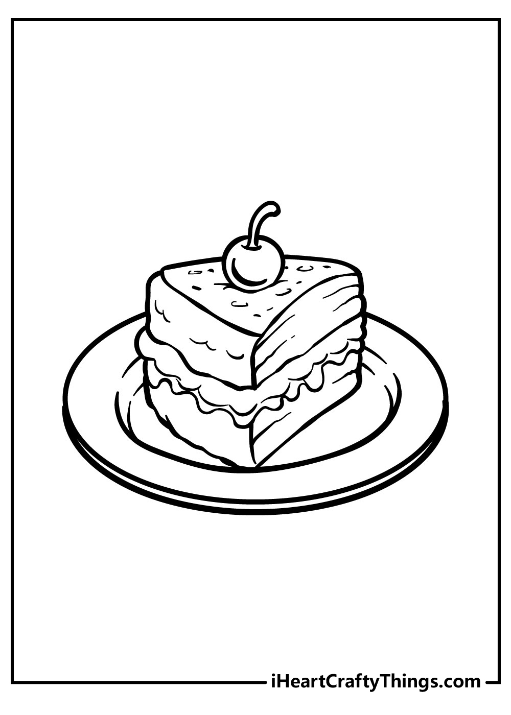 slice cake coloring pages free printables