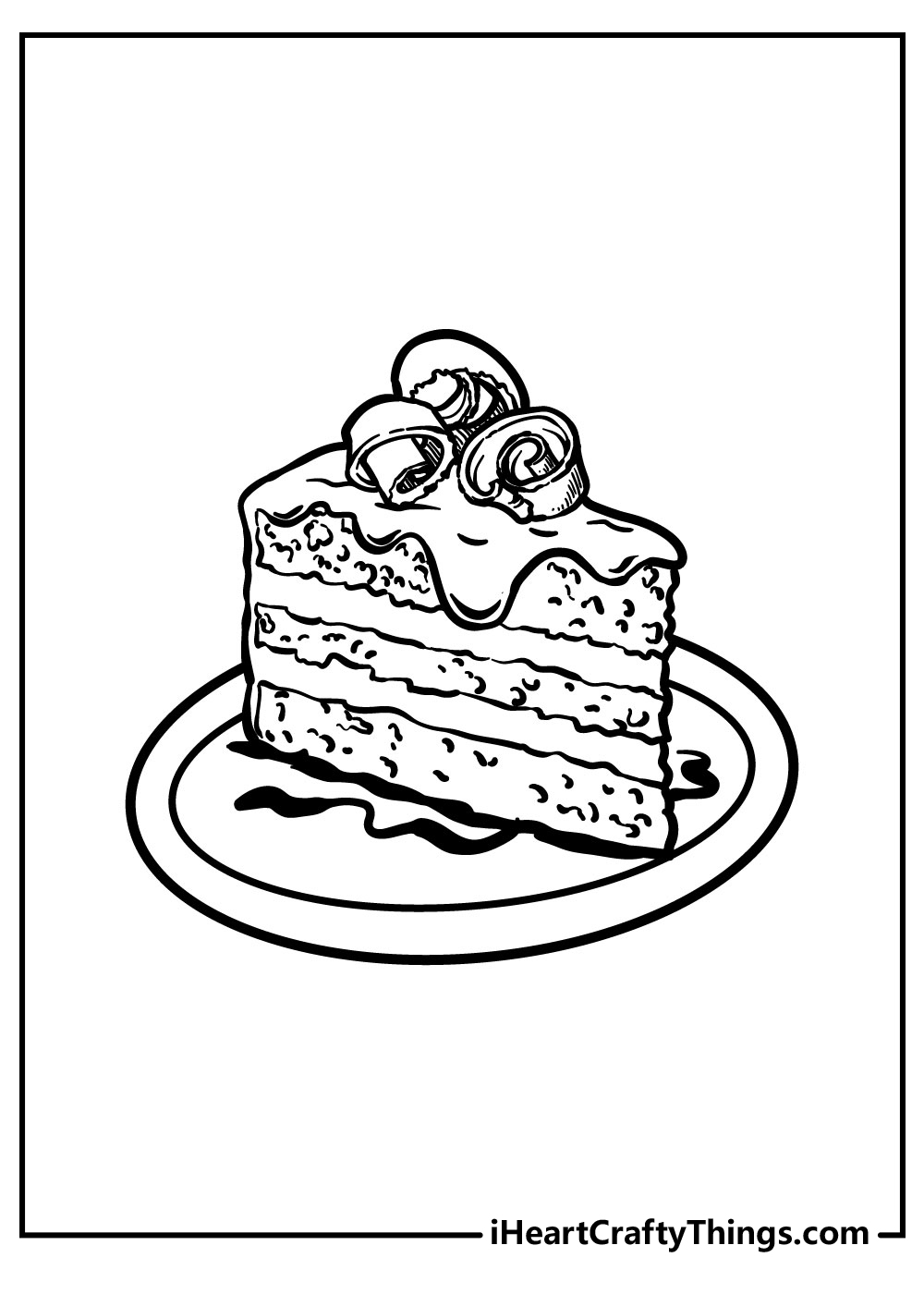 one slice of cake coloring pages free pdf