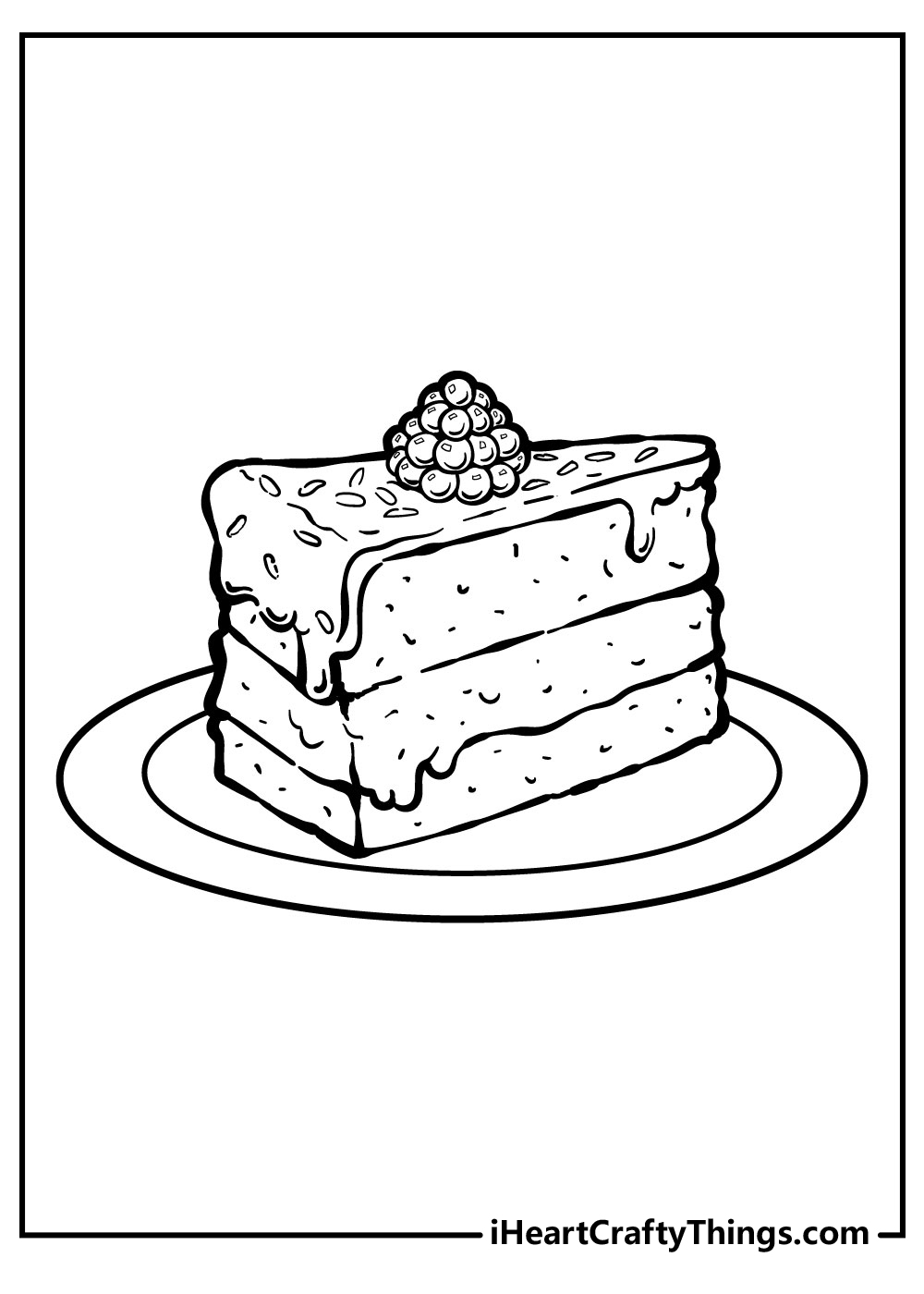 a cake slice coloring pages free download