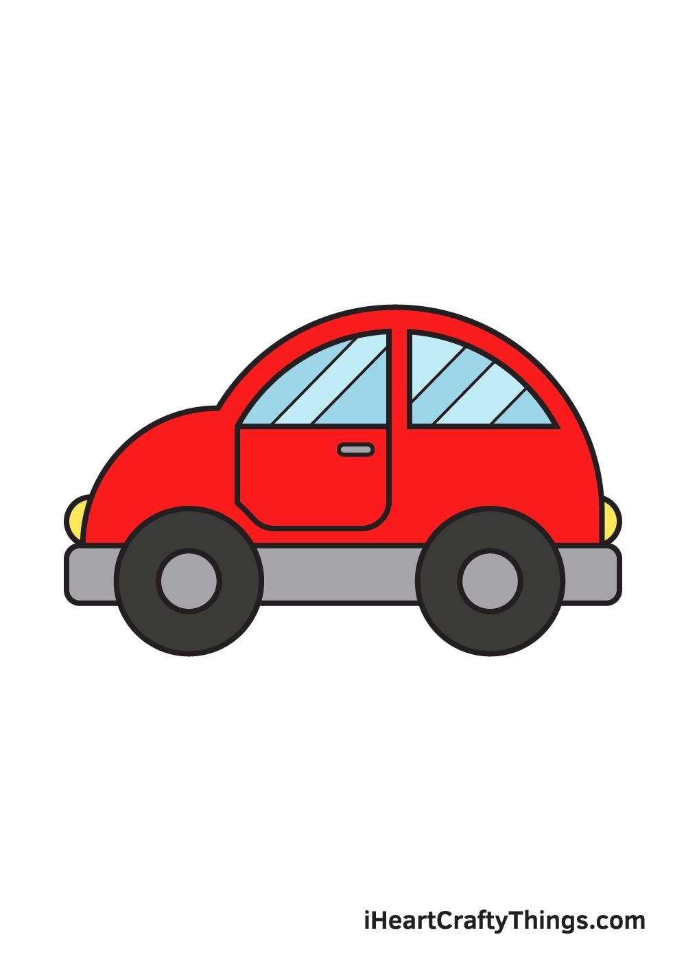 car drawing – 9 steps