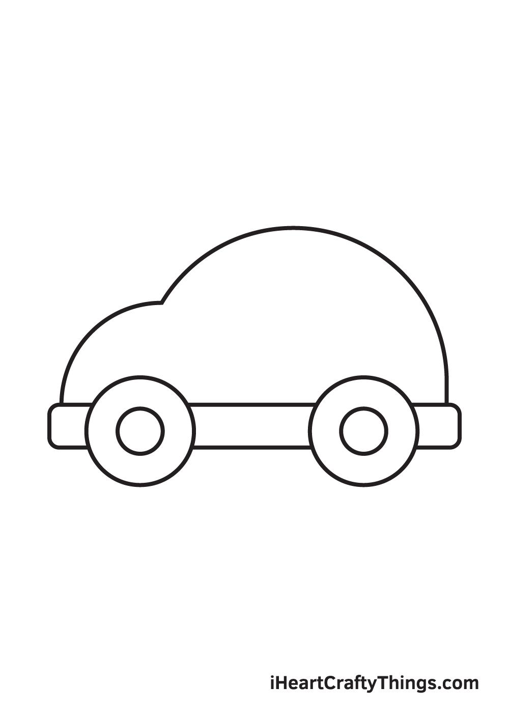 car drawing – step 4
