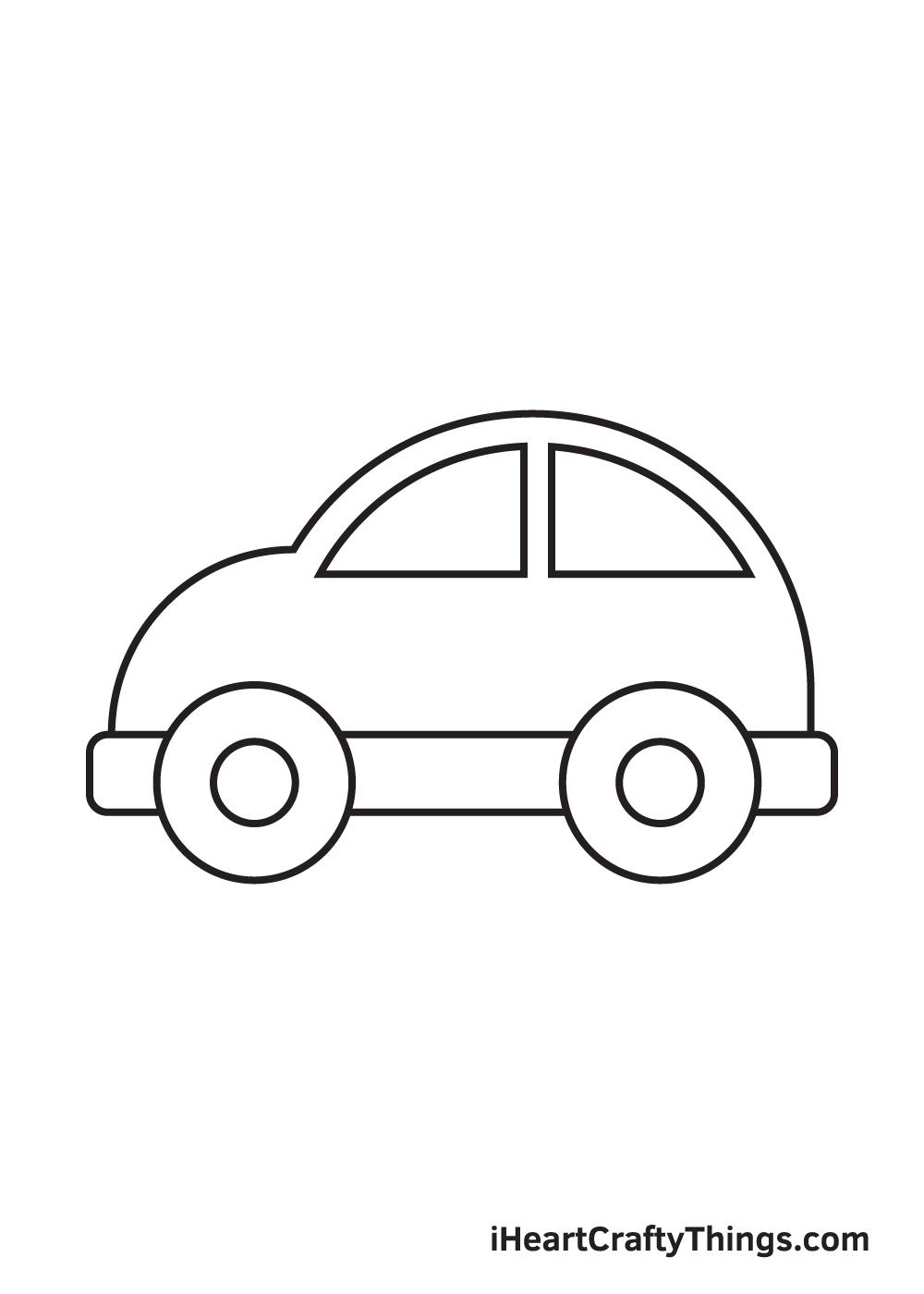 car drawing – step 6