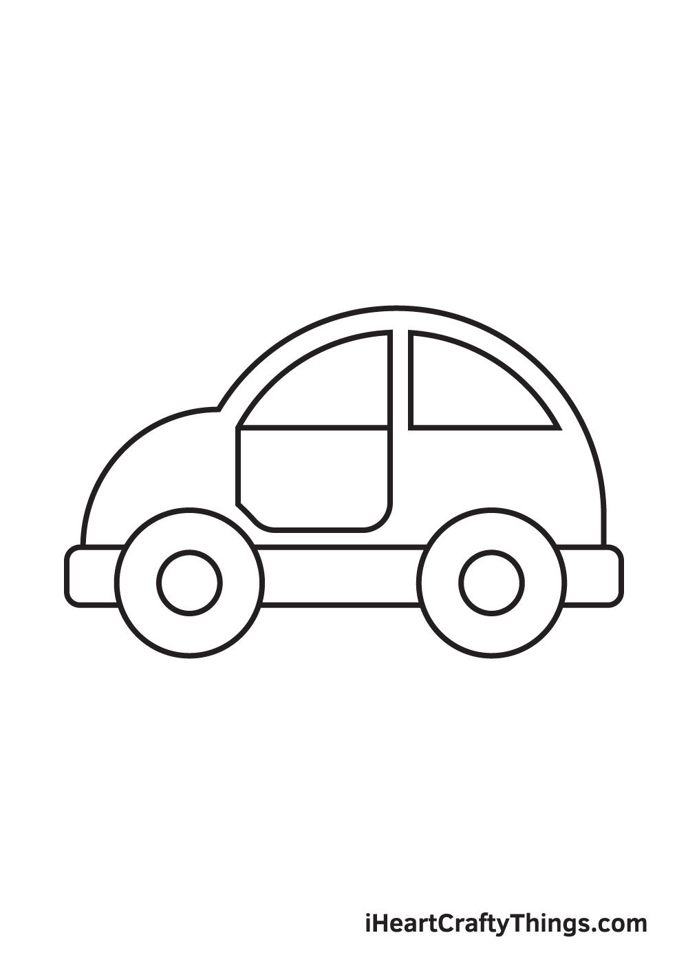 car drawing – step 7