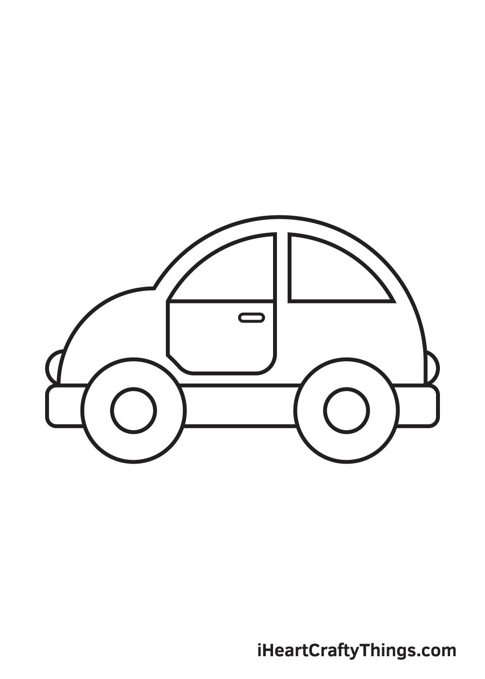 car drawing – step 8