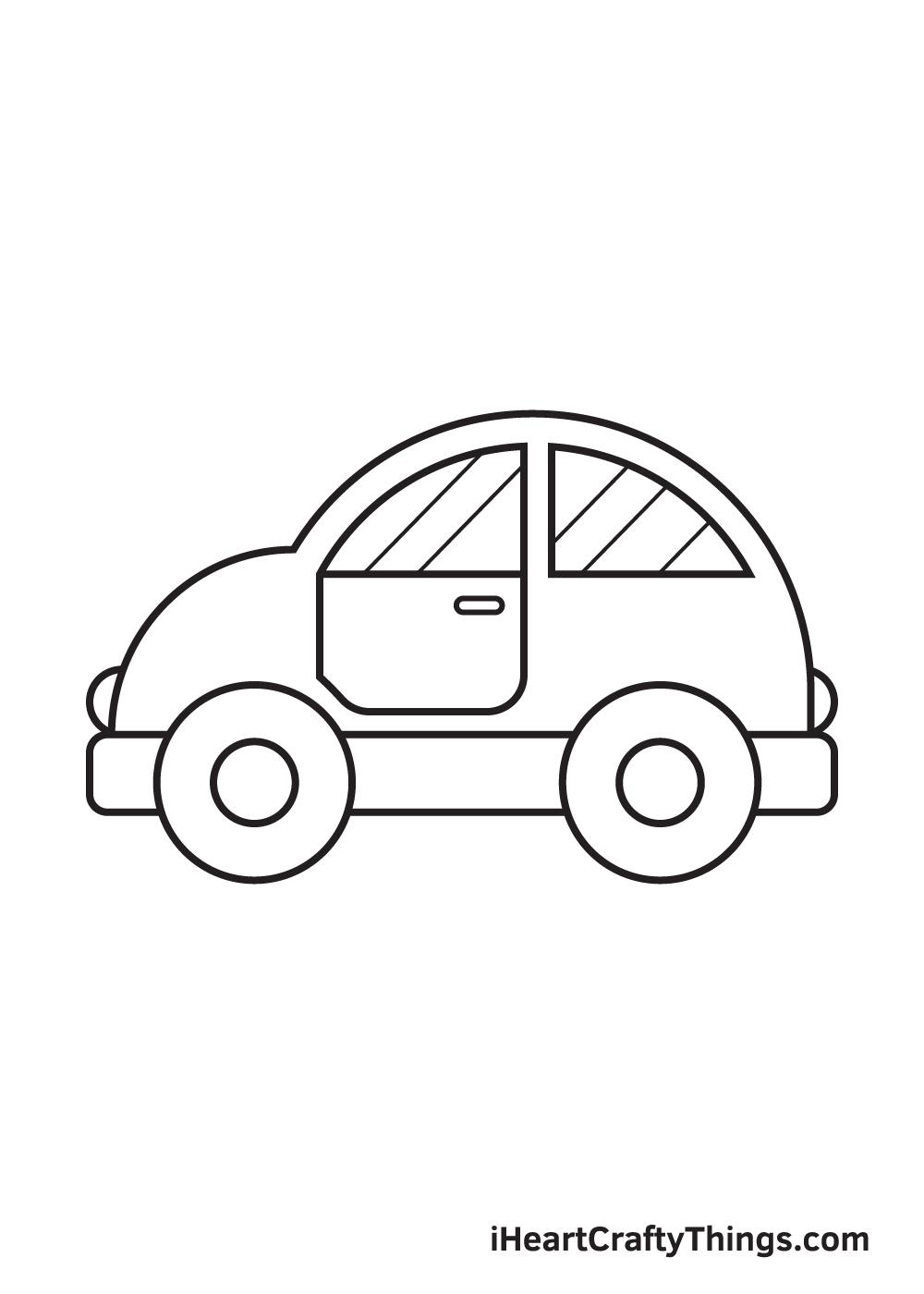 car drawing – step 9