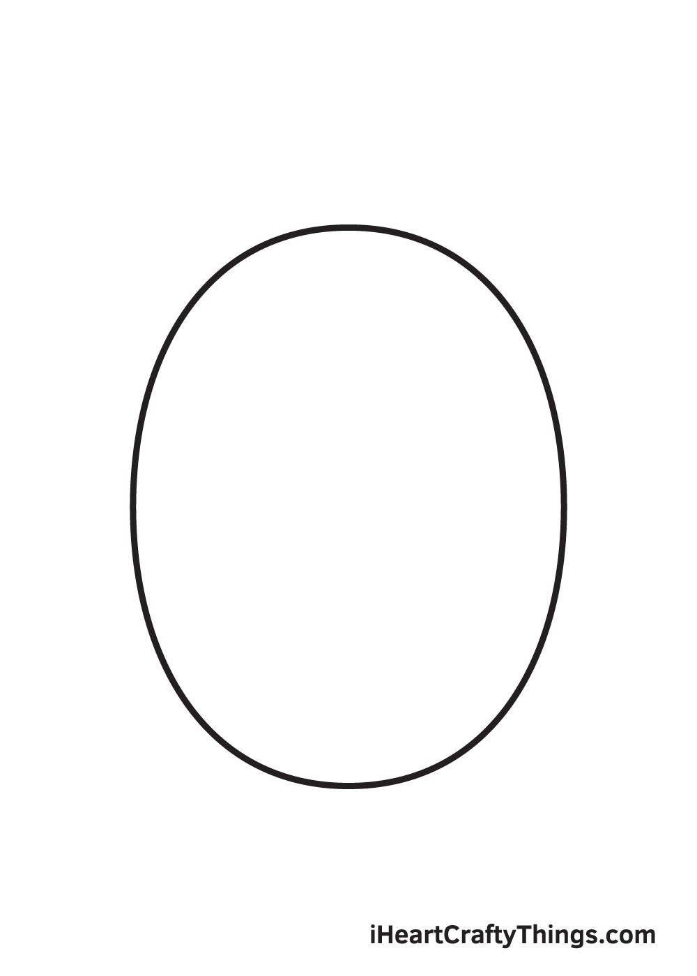 Cartoon Face Drawing – Step 1