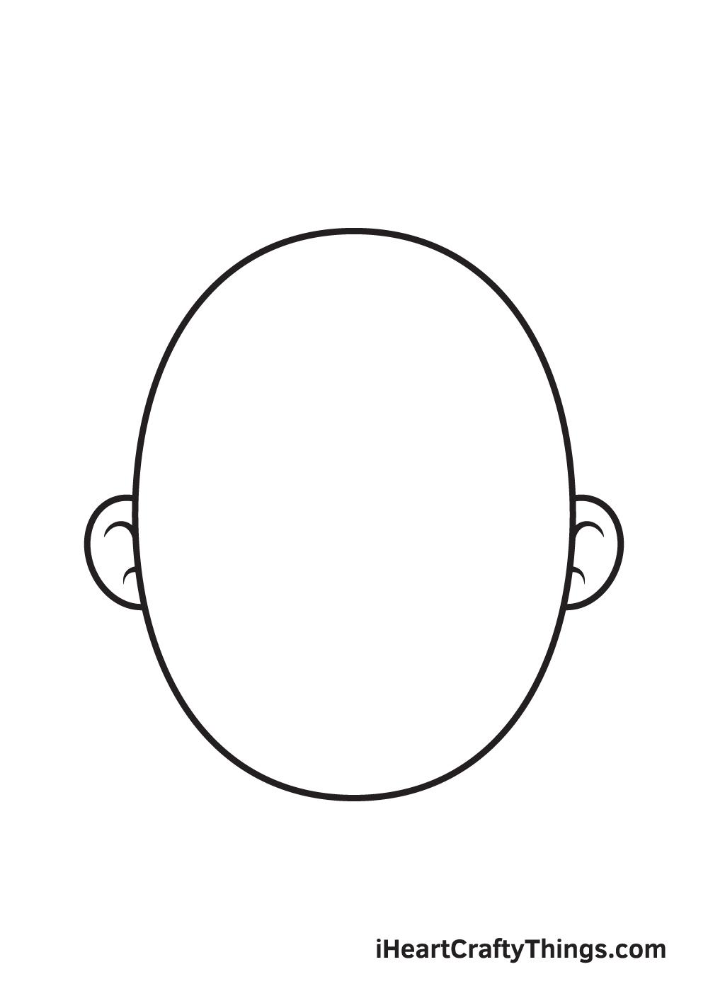 Cartoon Face Drawing – Step 2