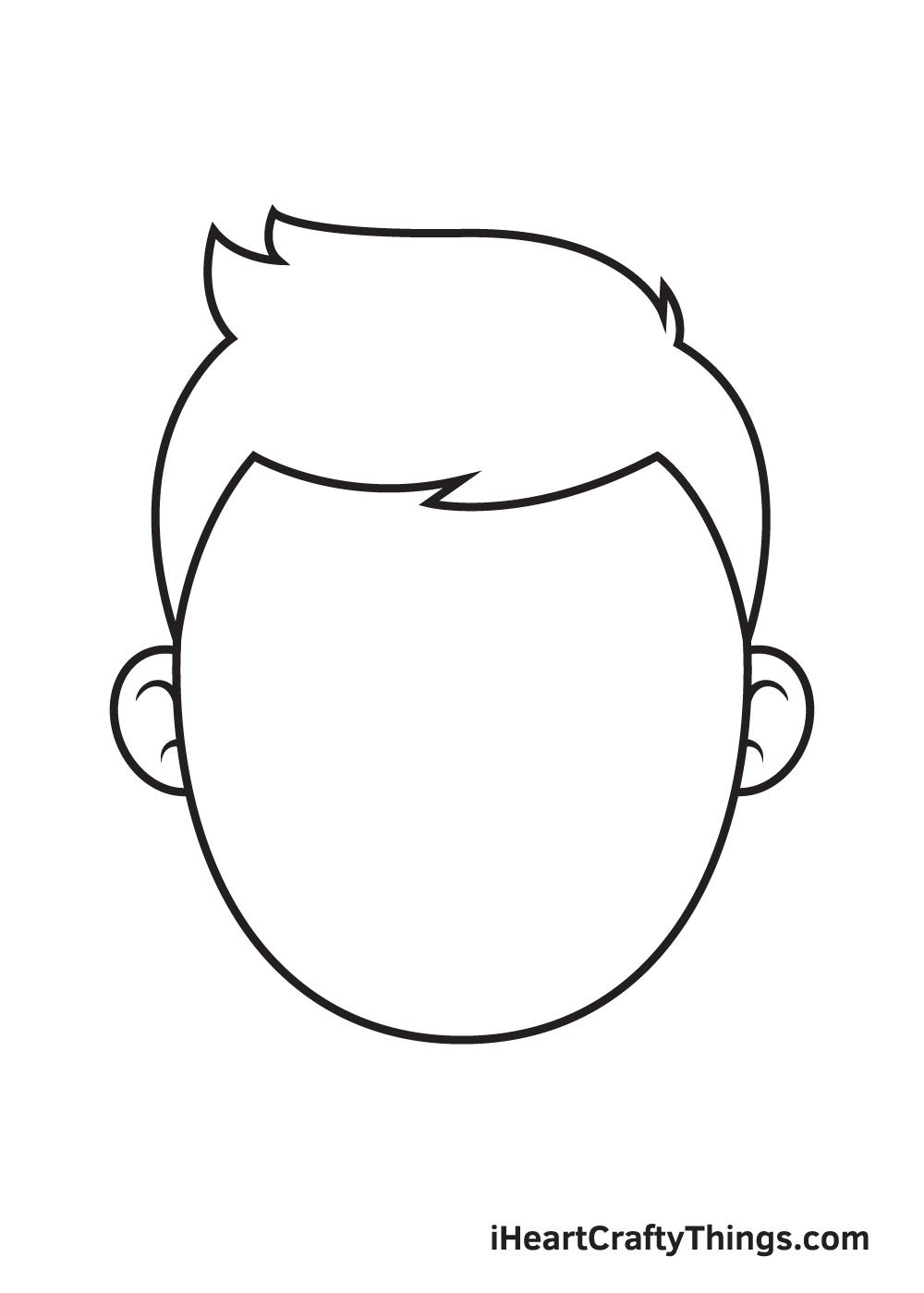Cartoon Face Drawing – Step 3