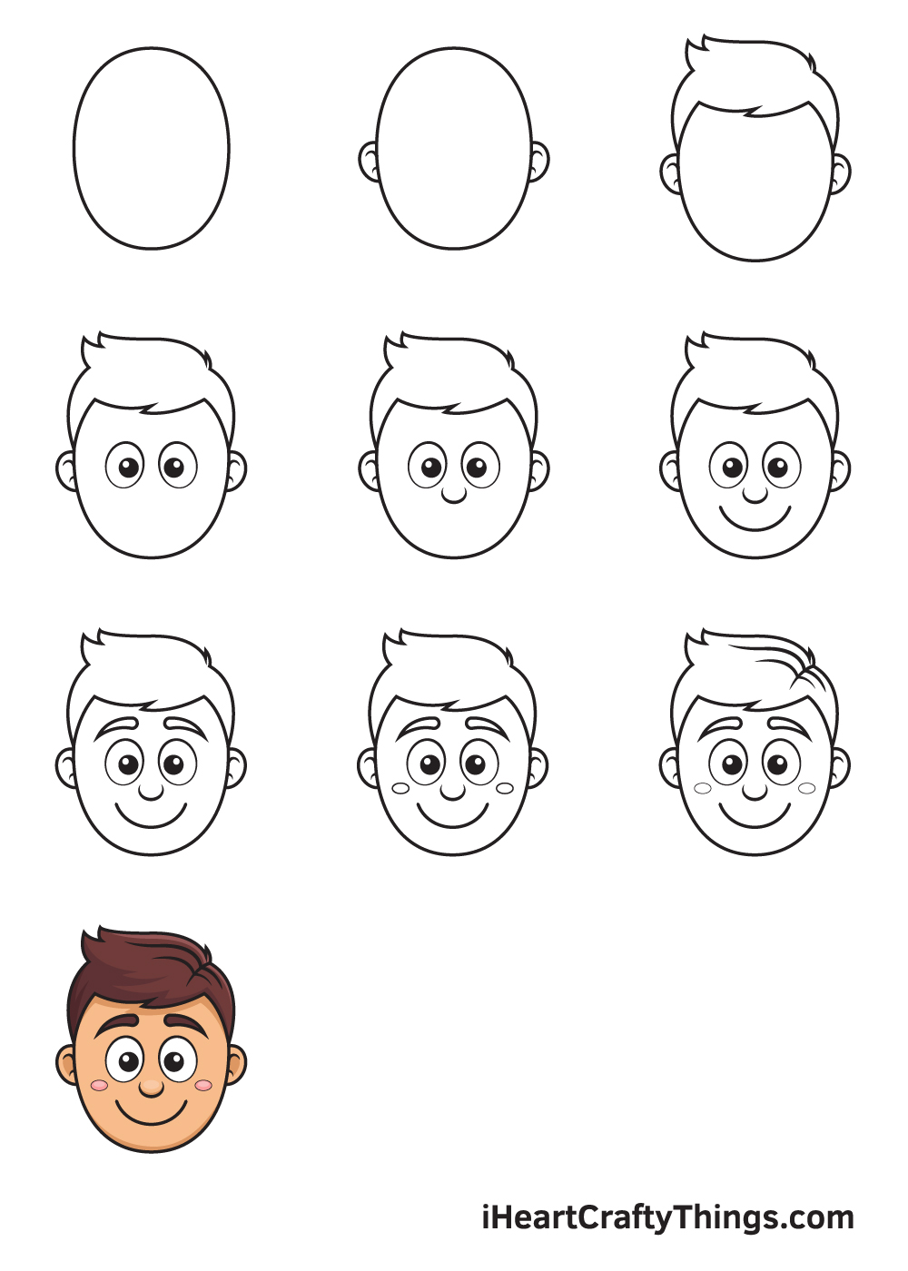 Cartoon Face in 9 Easy Steps