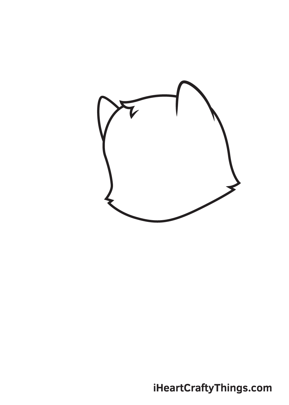 cat drawing – step 3