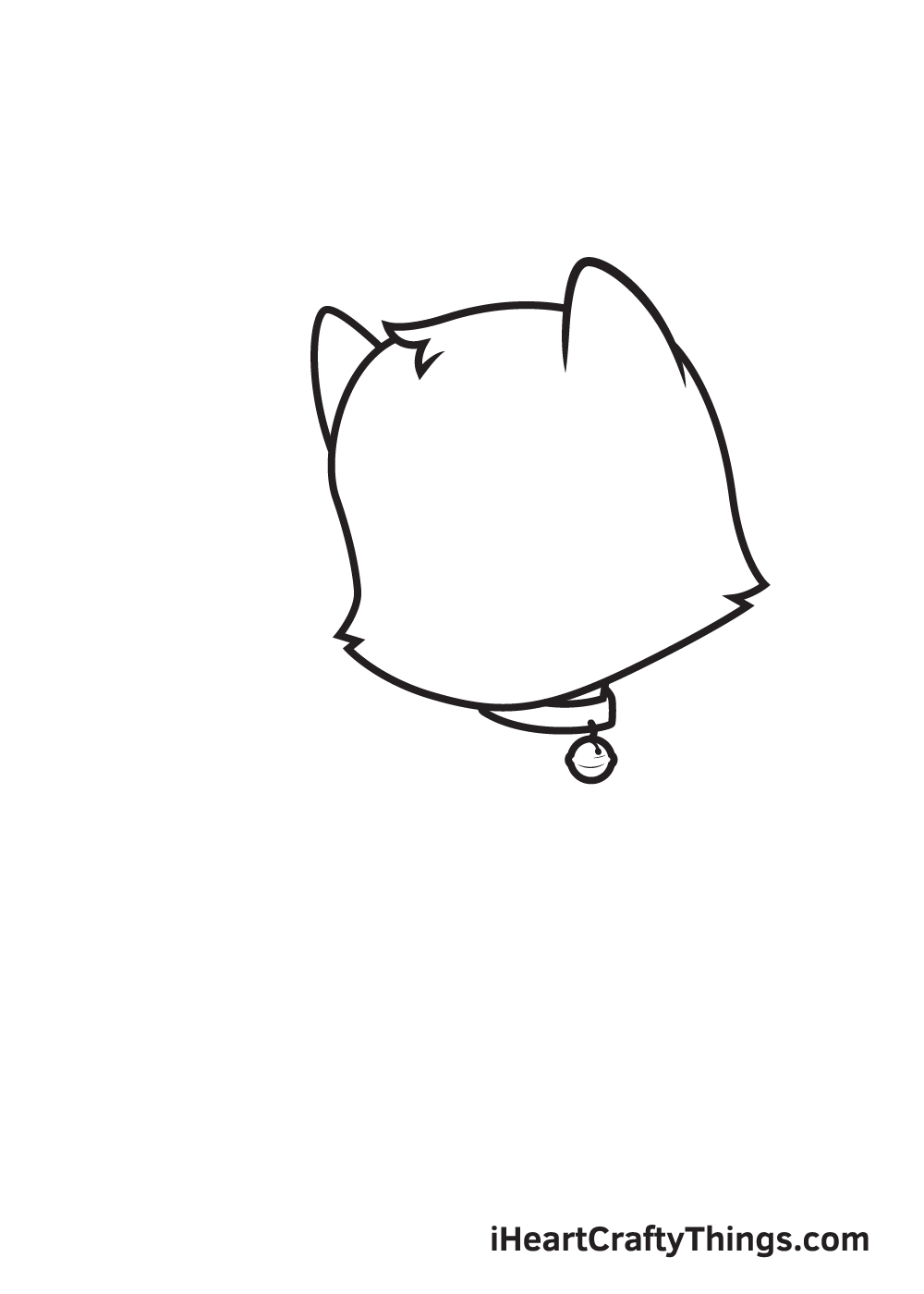 cat drawing – step 4