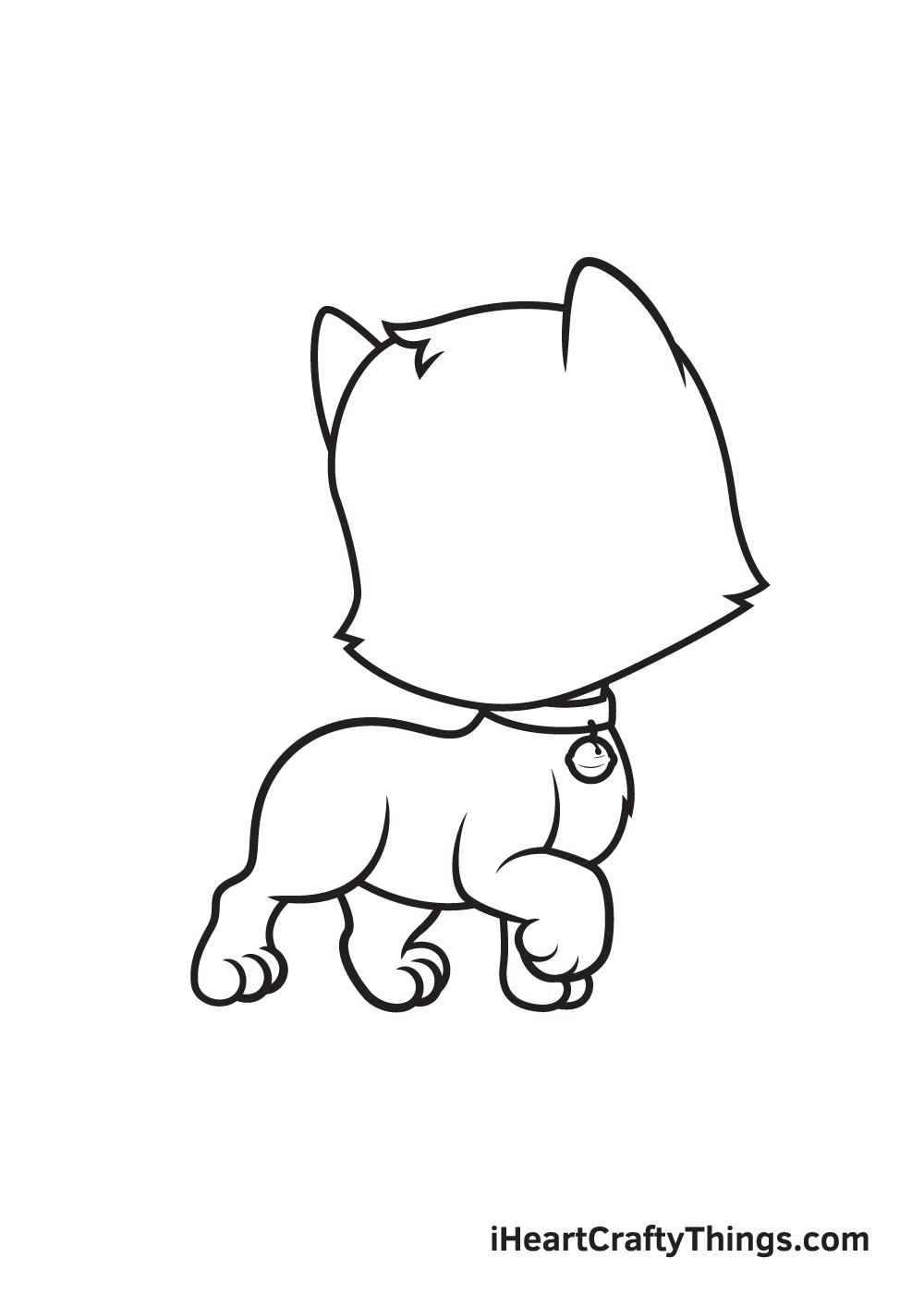 cat drawing – step 7