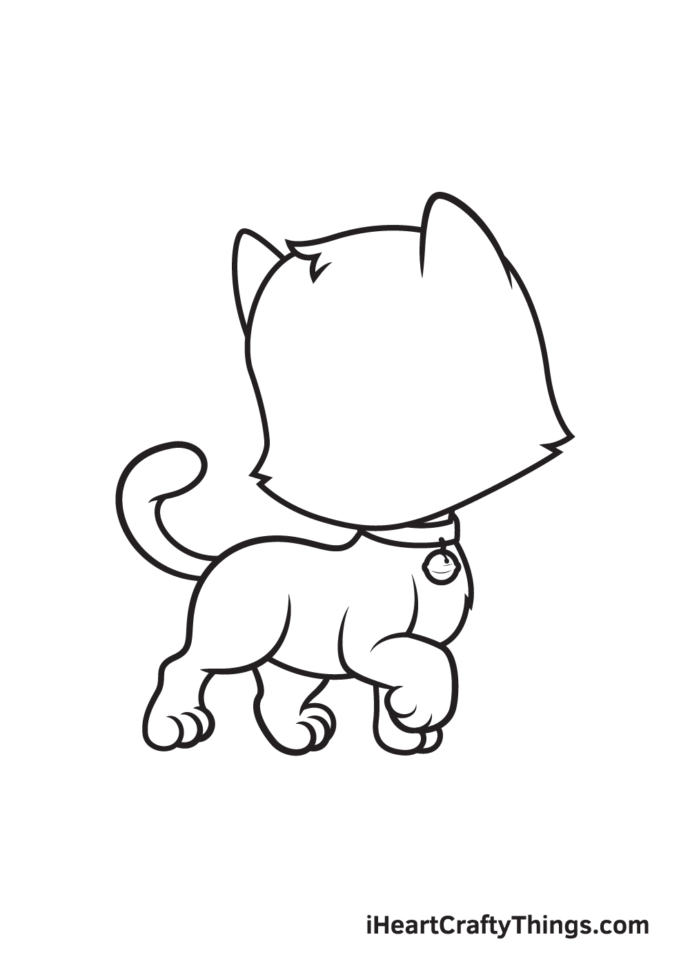 cat drawing – step 8