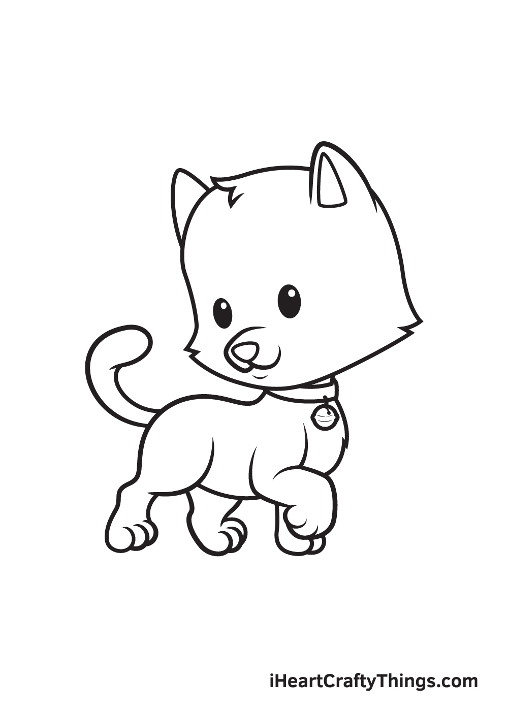 cat drawing – step 9