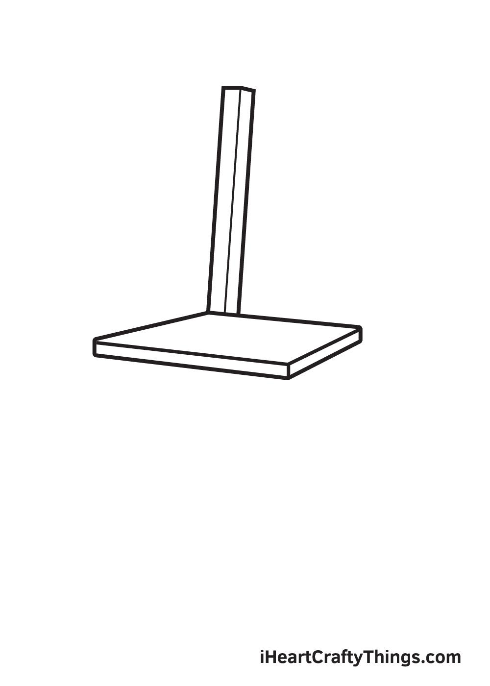 Vẽ ghế - Bước 2