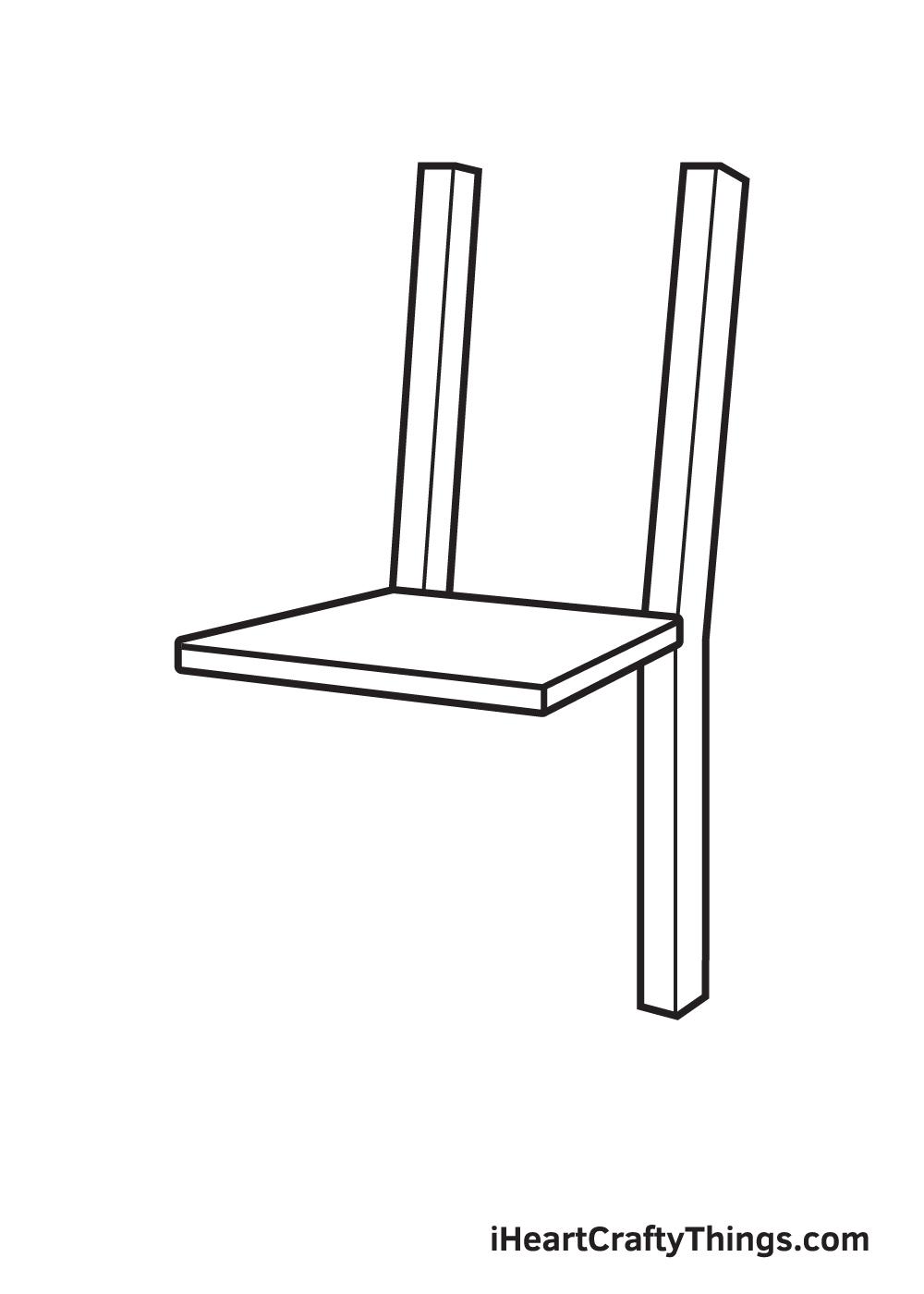 Vẽ ghế - Bước 3