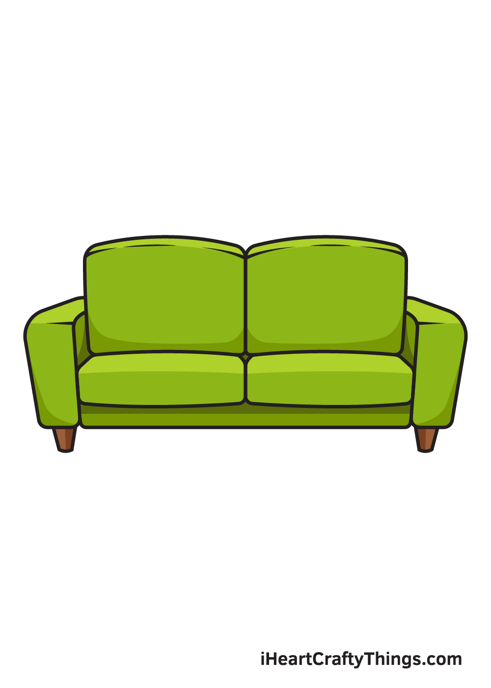 Couch Drawing - 9 Steps