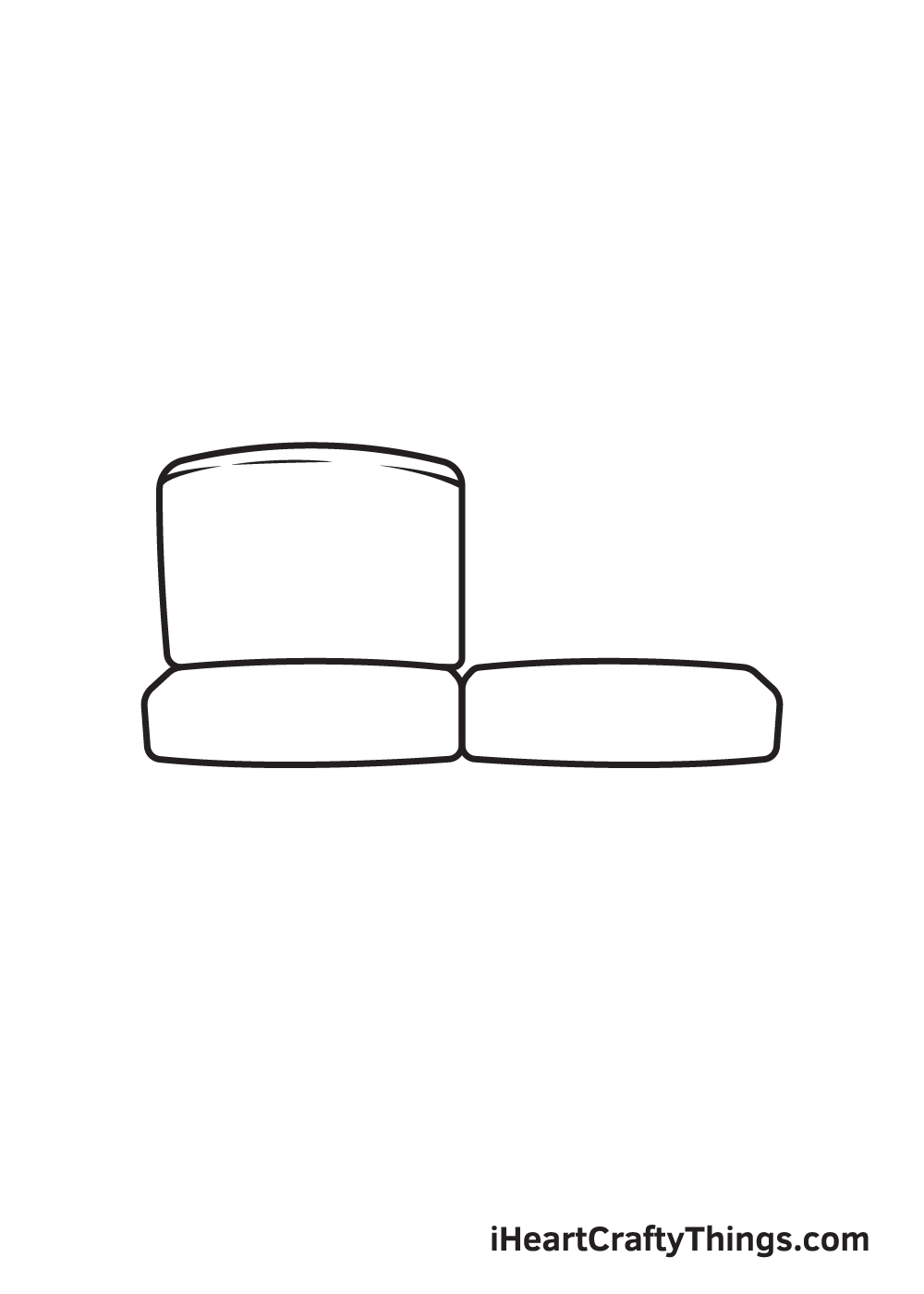 Couch Drawing – Step 3