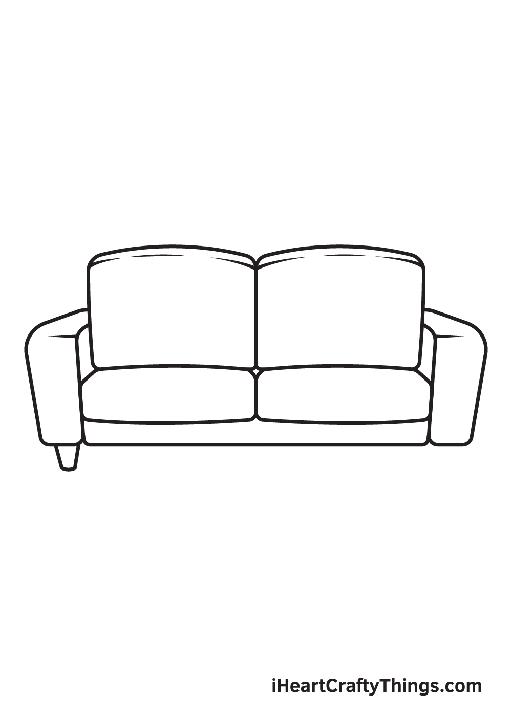 Couch Drawing – Step 8