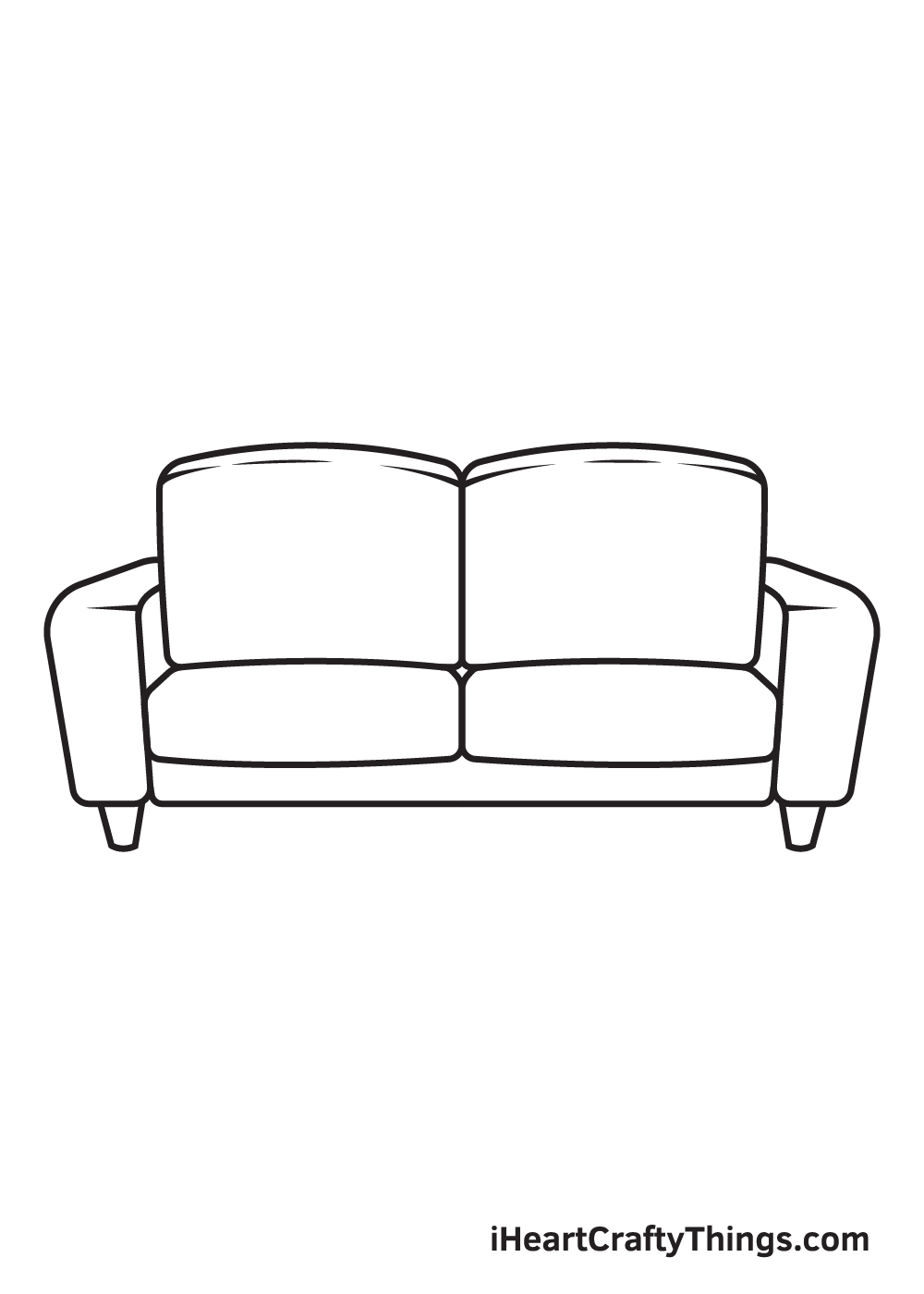Couch Drawing – Step 9