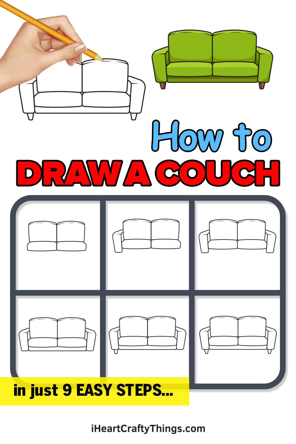 How to Draw a Couch in 9 Easy Steps