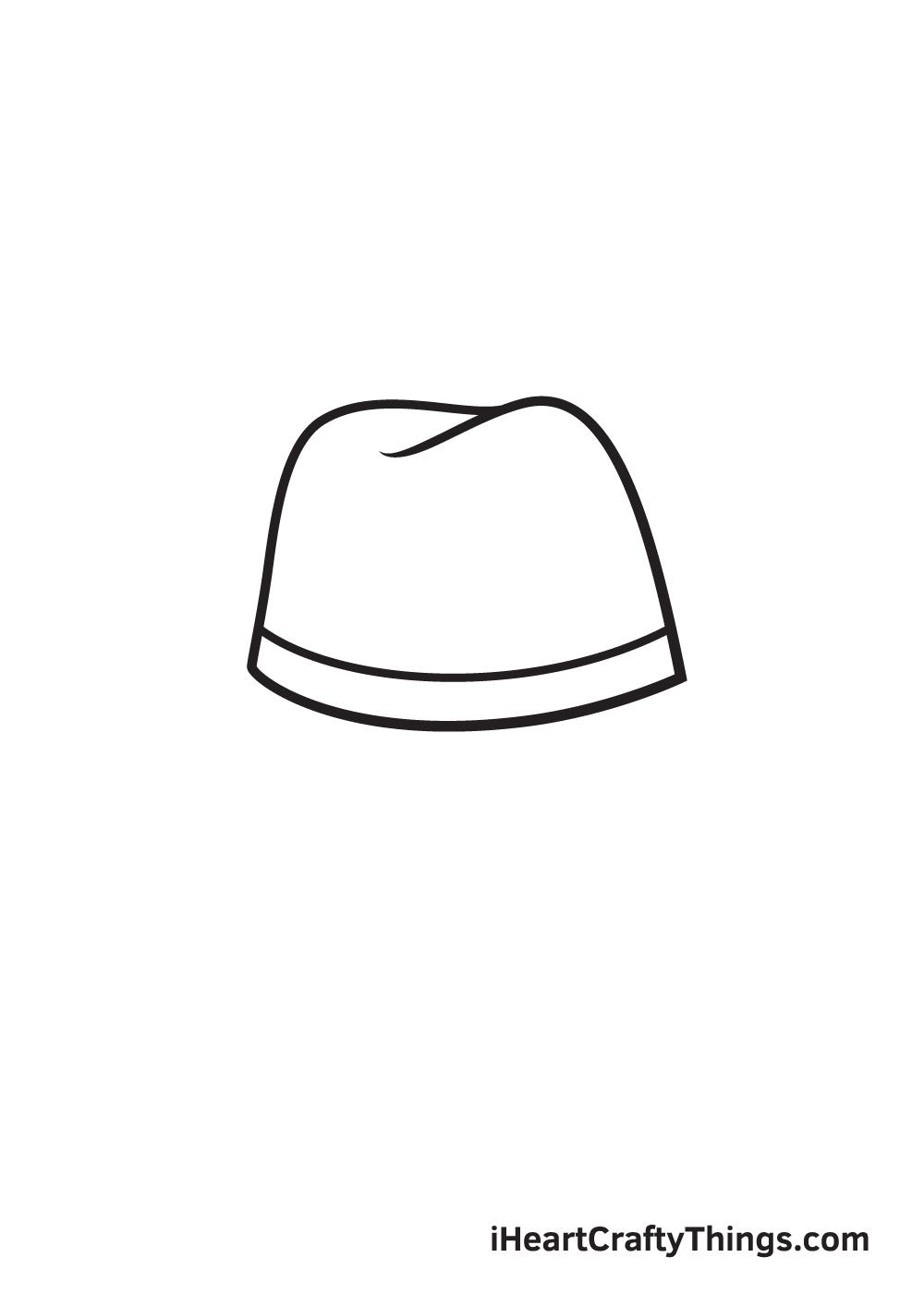 cowboy hat drawing - step 4