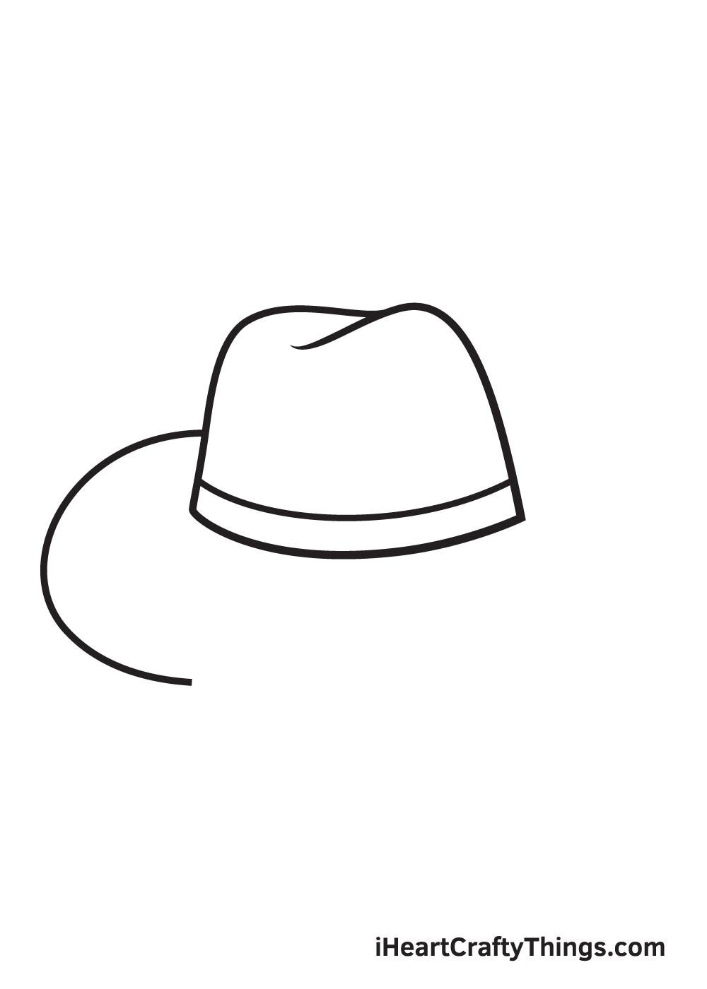 cowboy hat drawing - step 5