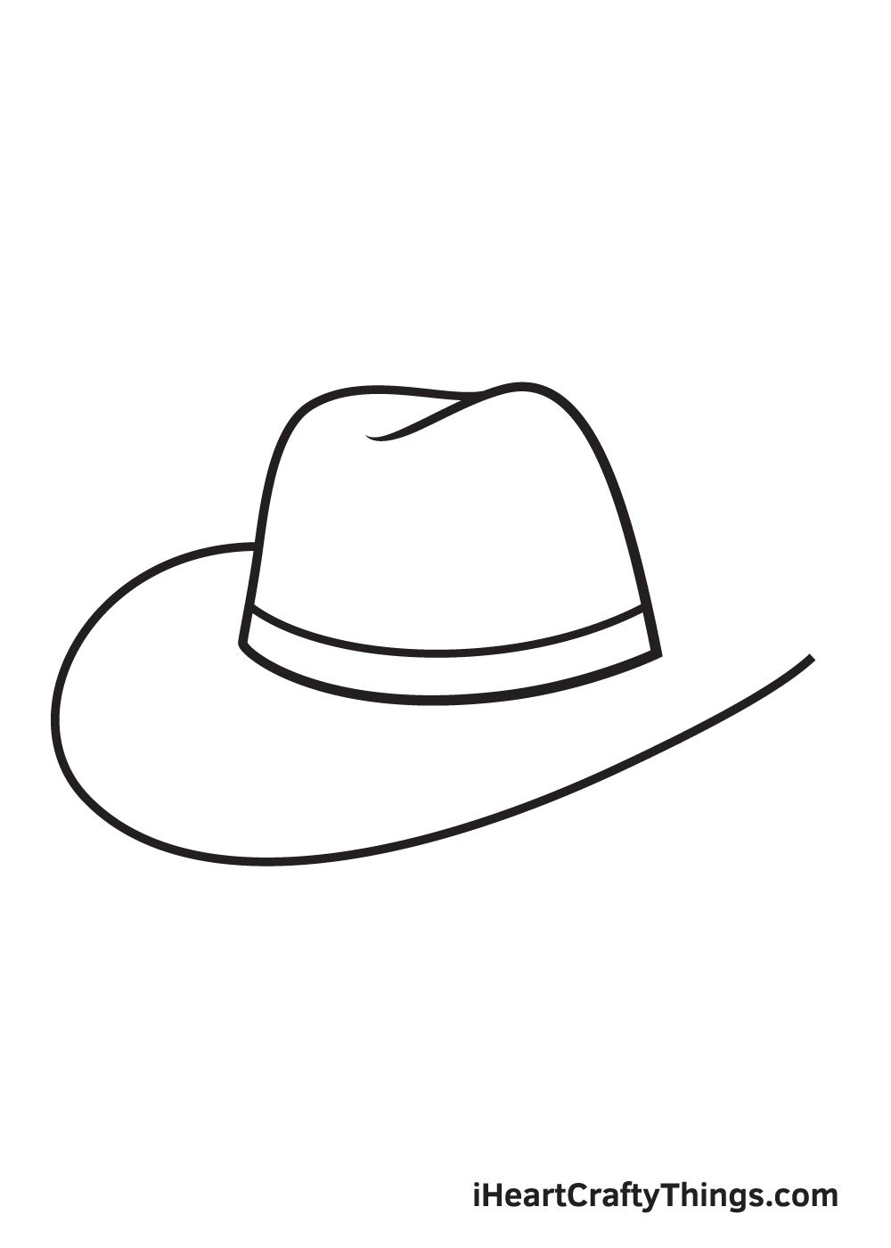 cowboy hat drawing - step 6