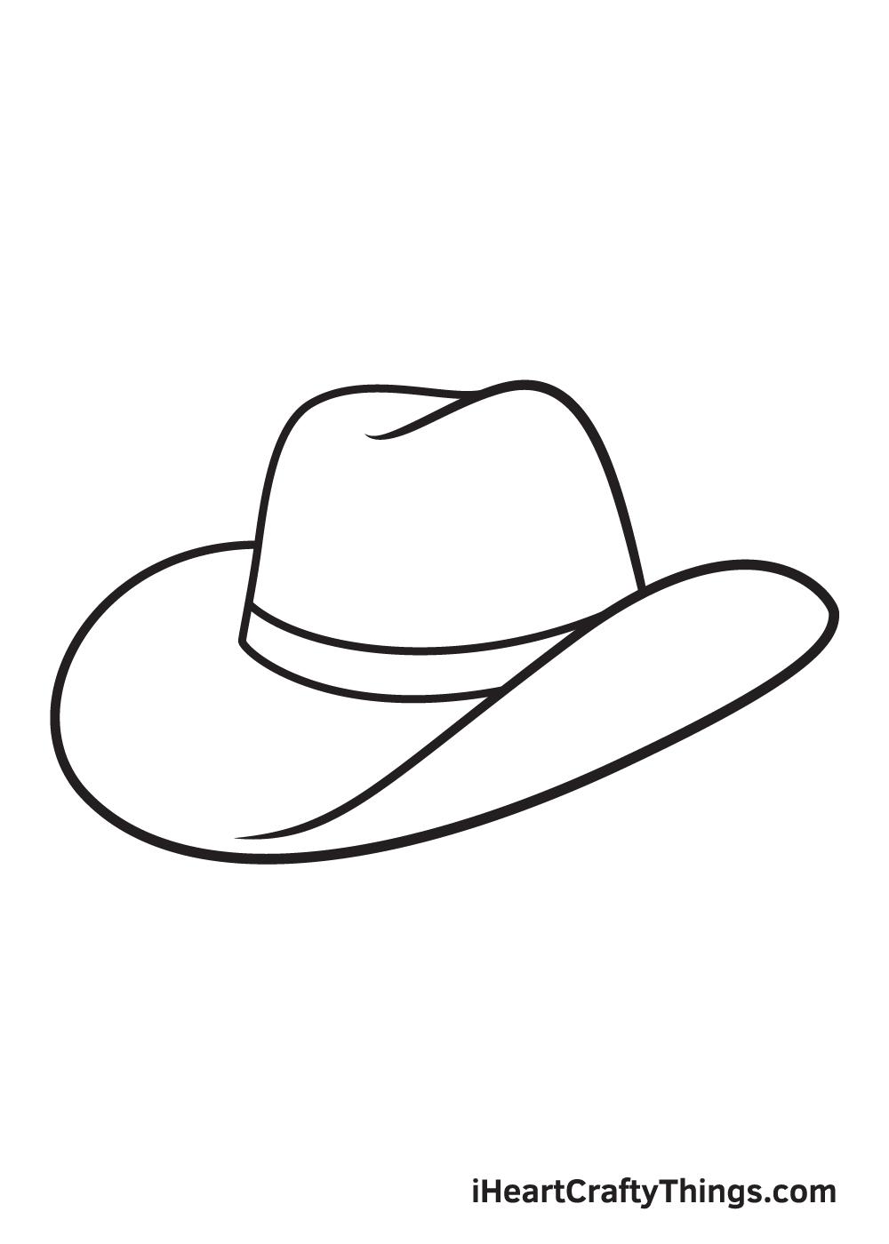 cowboy hat drawing - step 7