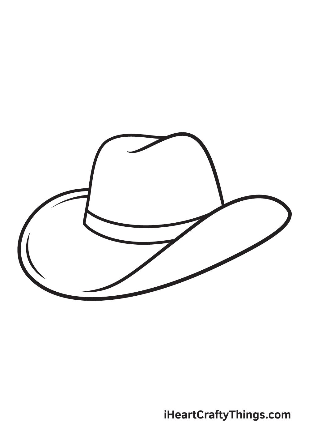 cowboy hat drawing - step 8
