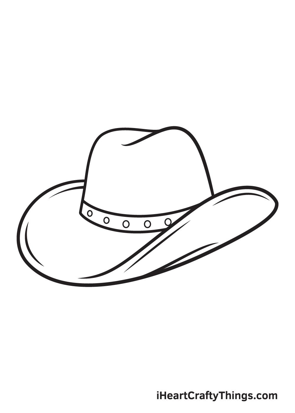 cowboy hat drawing - step 9