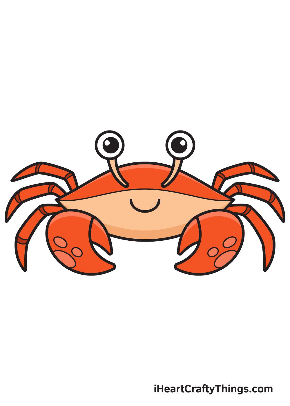 Crab Drawing – 9 Steps