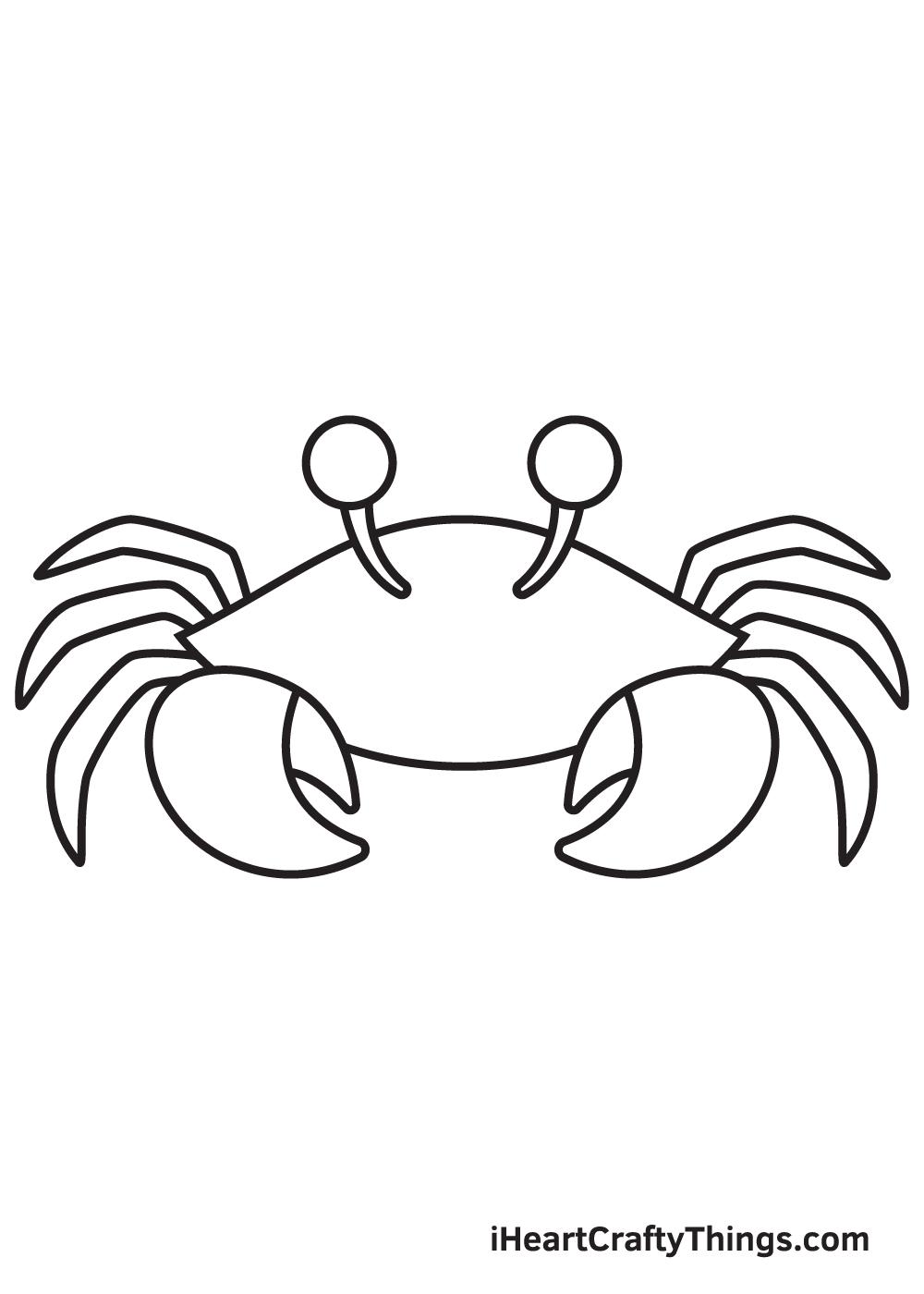 Crab Drawing – Step 7
