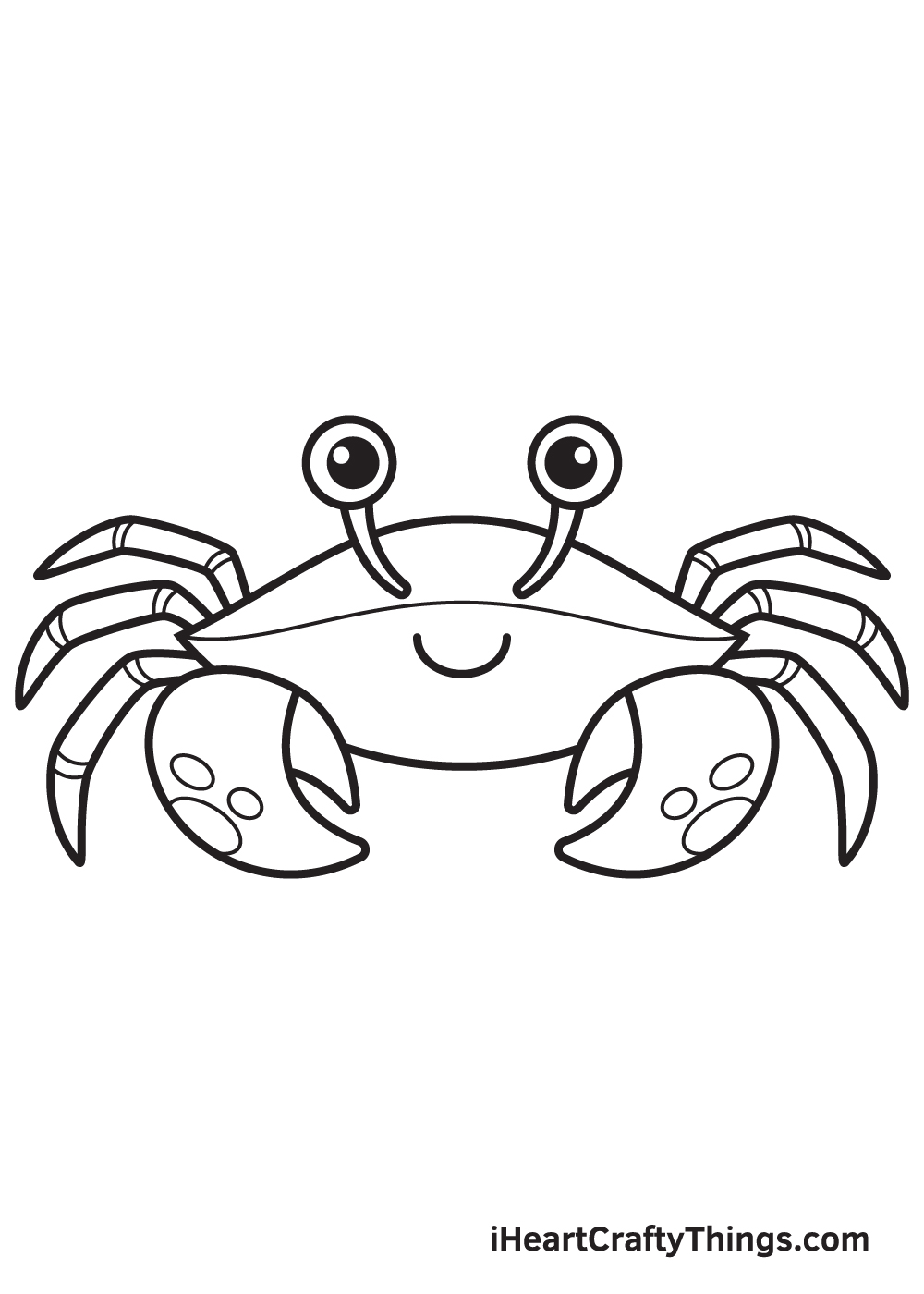 Crab Drawing – Step 9