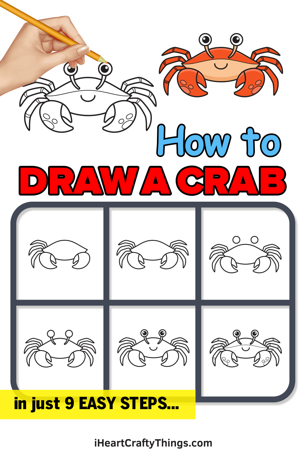 How to Draw a Crab in 9 Easy Steps