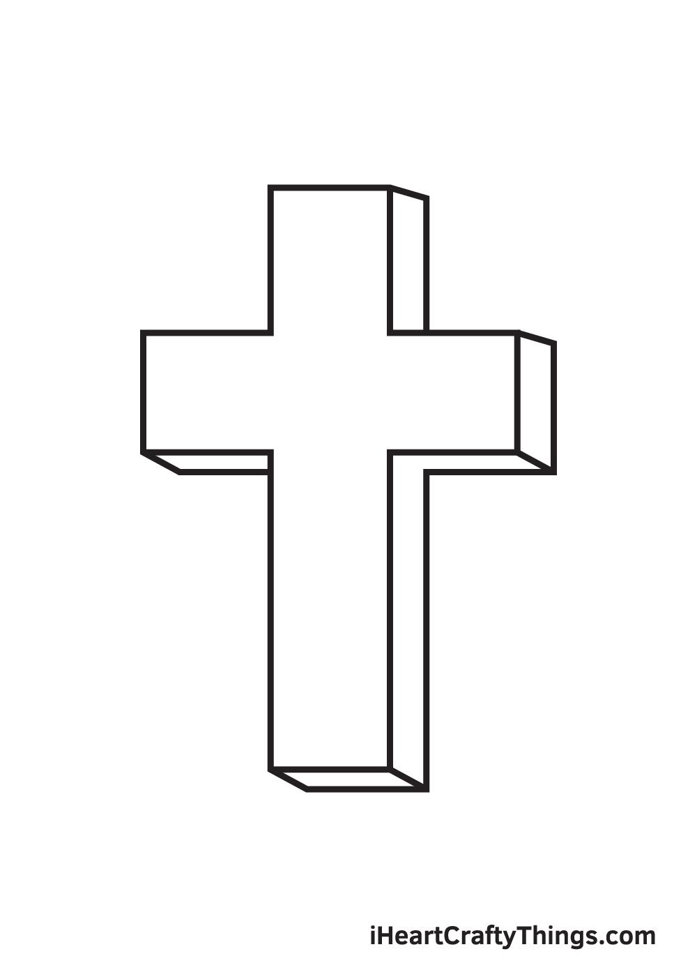 cross drawing - step 8