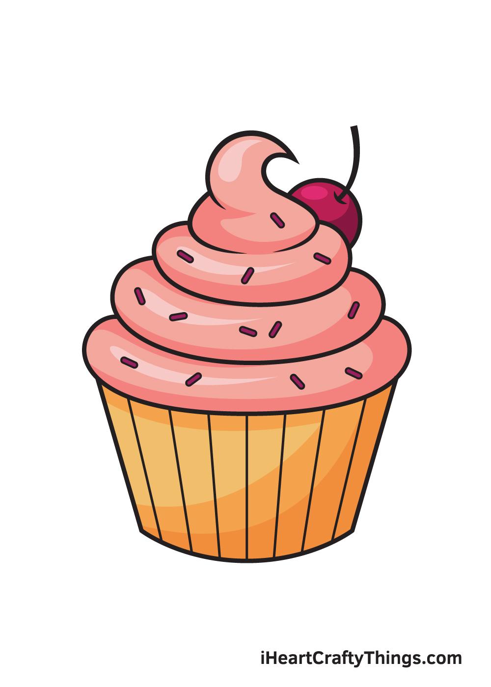 Cupcake Drawing – 9 Steps