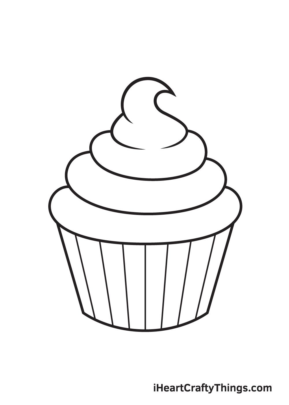 Cupcake Drawing – Step 7
