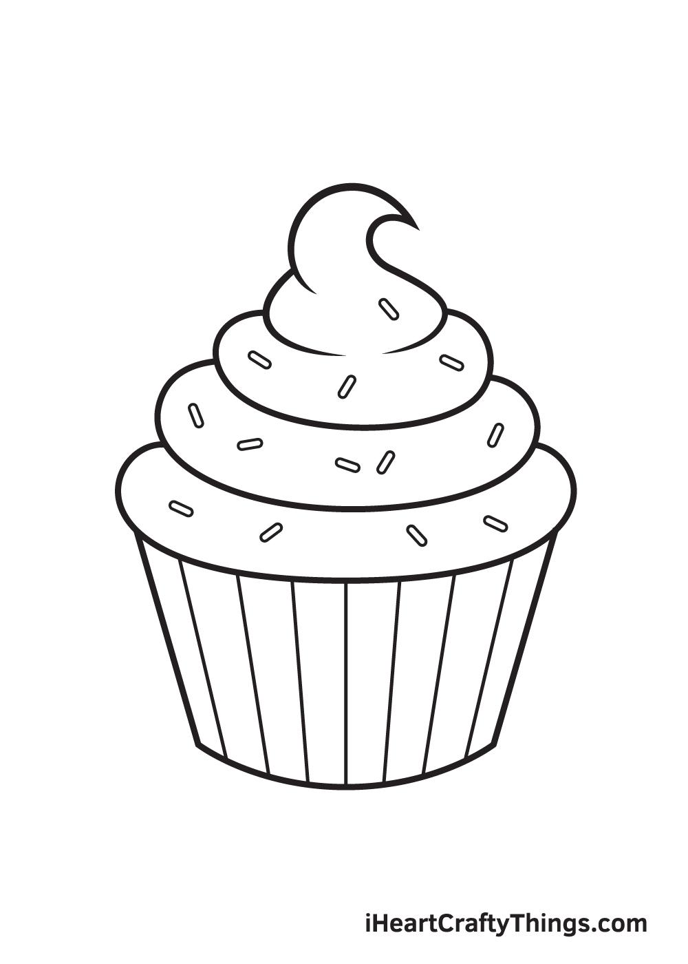 Cupcake Drawing – Step 8