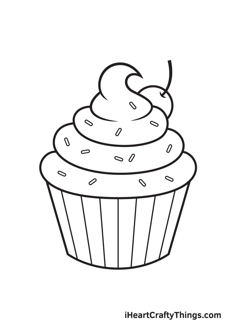 Cupcake Drawing – Step 9