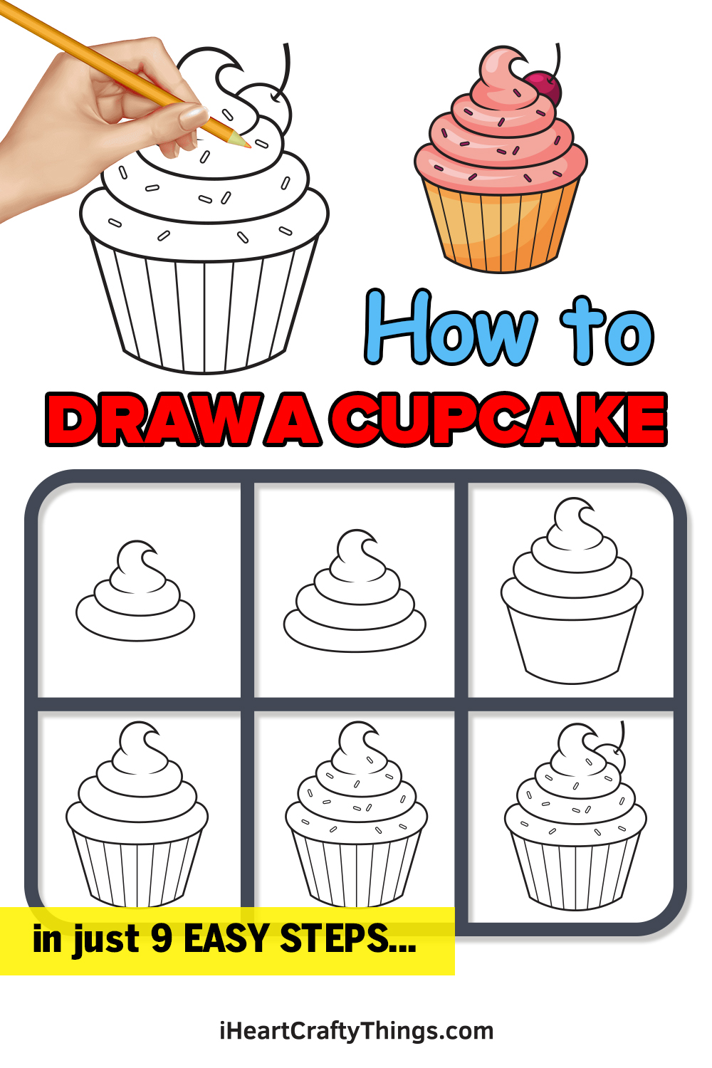 How to Draw a Cupcake in 9 Easy Steps