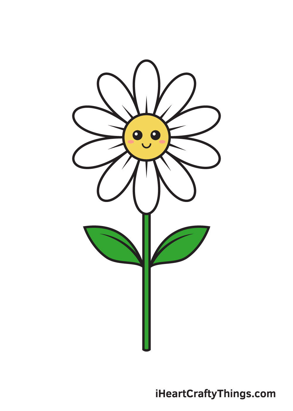 daisy drawing - 9 steps