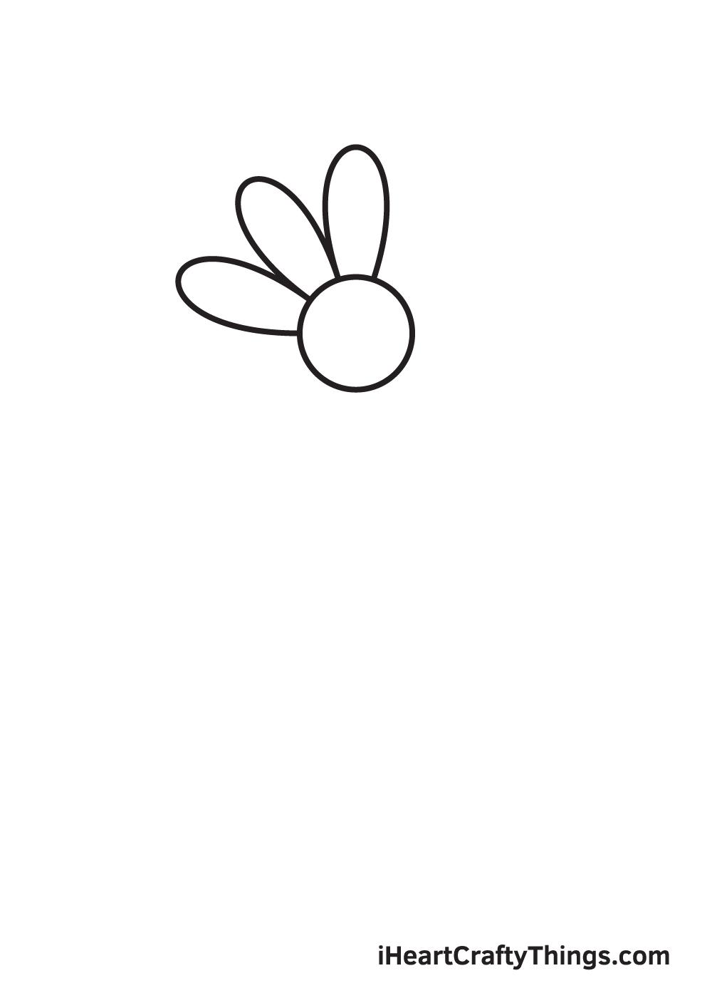 daisy drawing - step 2