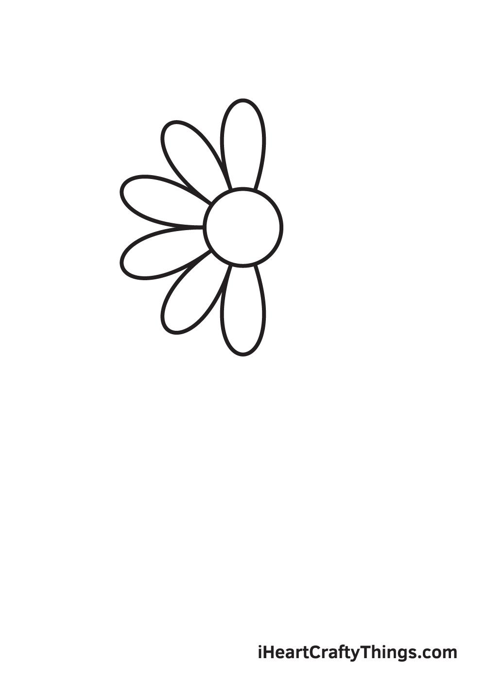 daisy drawing - step 3