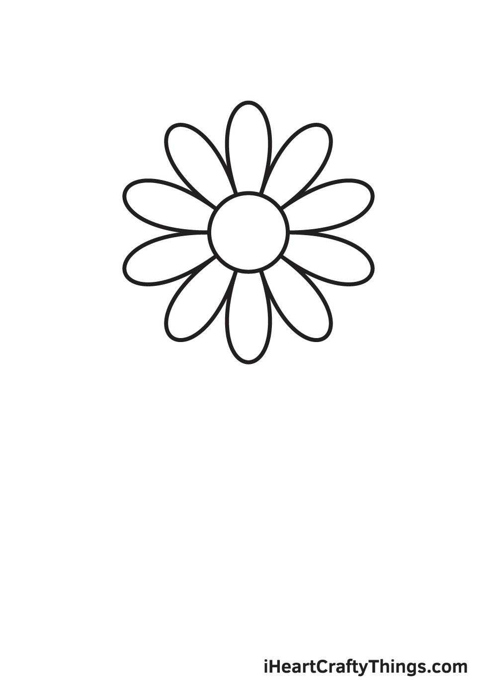 daisy drawing - step 4